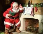 Kaminas krosniai ir Kalėdų Seneliui