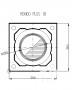 Rondo Plus 18 (360x360mm) vieno kanalo