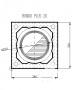 Rondo Plus 20 (360x360mm) vieno kanalo